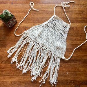 Tops - Festival Style Handmade Crochet Halter Top